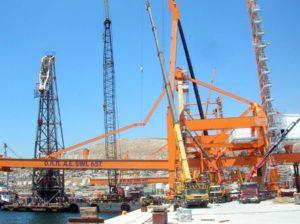 Erection of STS Cranes