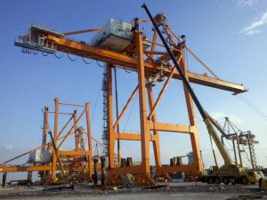 Erection of STS Cranes
