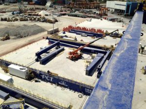 Erection of six RMG cranes
