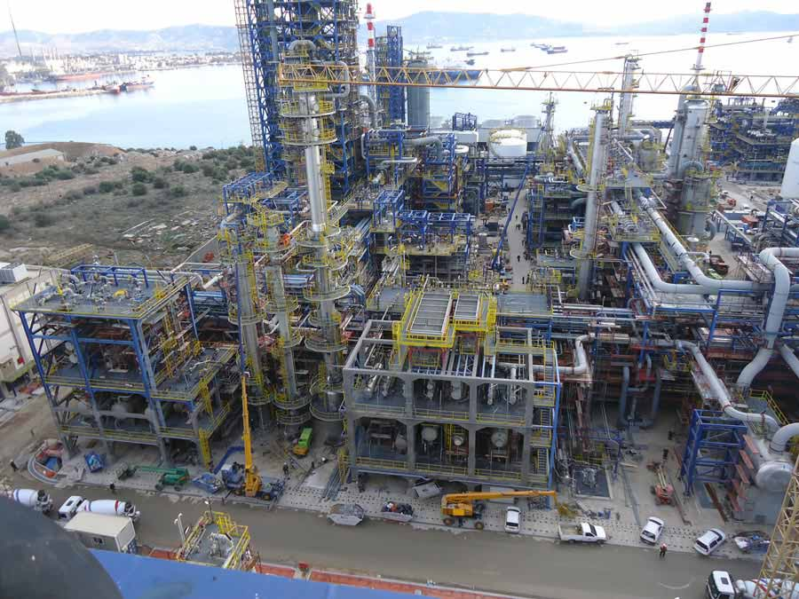 Erection of steam tracing Elpe Refinery Upgrade Project of Hellenic Petrolleum SA