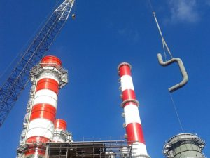 Erection of piping