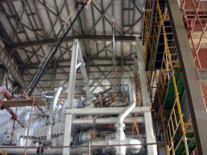 Erection of steam turbines