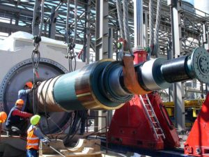 Erection of steam turbines