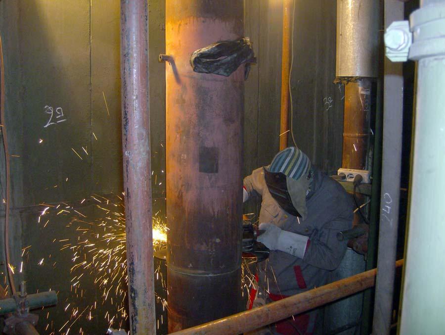 Repair of high pressure boilers