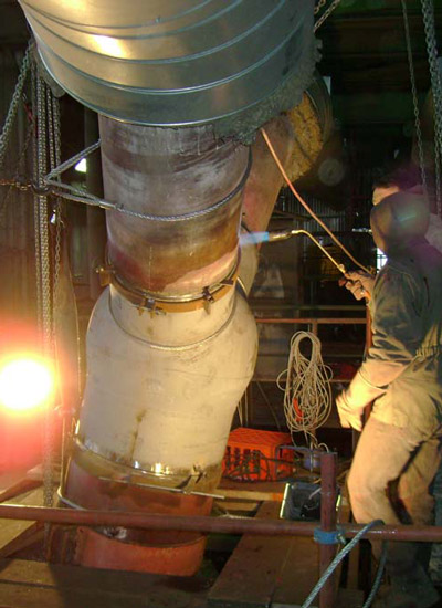 Maintenance of boiler high pressure parts at thermal power plants