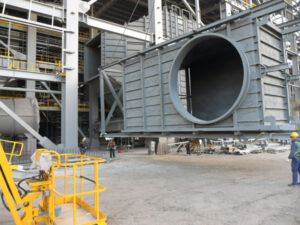 Erection of boiler ducts