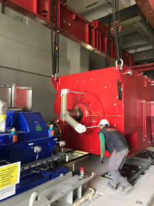 Erection of feedwater pumps Ptolemais V