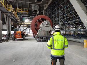 Erection of lignite mills